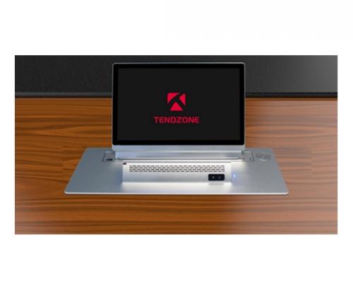 15.6寸液晶带列阵式麦克风背面桌牌升降一体机