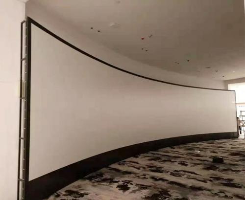 白色透声弧形软幕(16.5x3.6m)